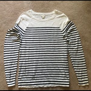 J.Crew  Striped Jersey Black/White Top S